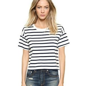 Madewell cropped striped t shirt - size small
